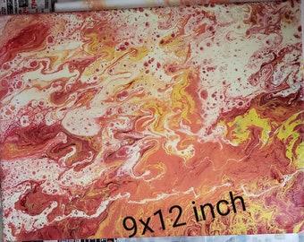 Red, yellow orange swirl