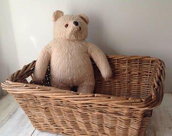 Wicker Basket, Vintage Basket, French Basket, Storage Basket, Original Basket, Characteristic Basket, Washing Basket, Laundry Basket, Rustic