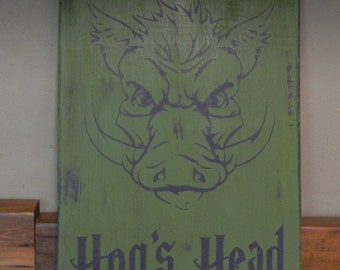 Harry Potter Hogs Head sign