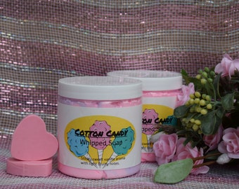 Cotton Candy Whipped Soap With Goats Milk Approximately 8 oz