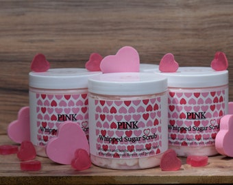 PINK Whipped Sugar Scrub With Goat's Milk approximately 8 oz