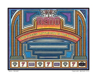Reno Nevada - fine art print