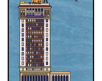 TJ Tower - Birmingham Alabama - fine art print