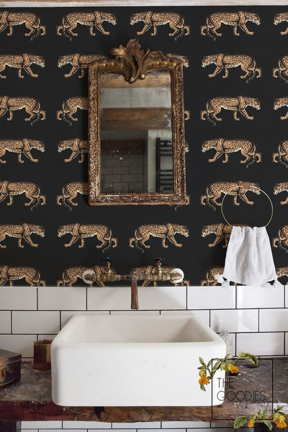 Leopard Wallpaper Cheetah Animal Print Chic Style Wall Mural Removable Wallpaper 68