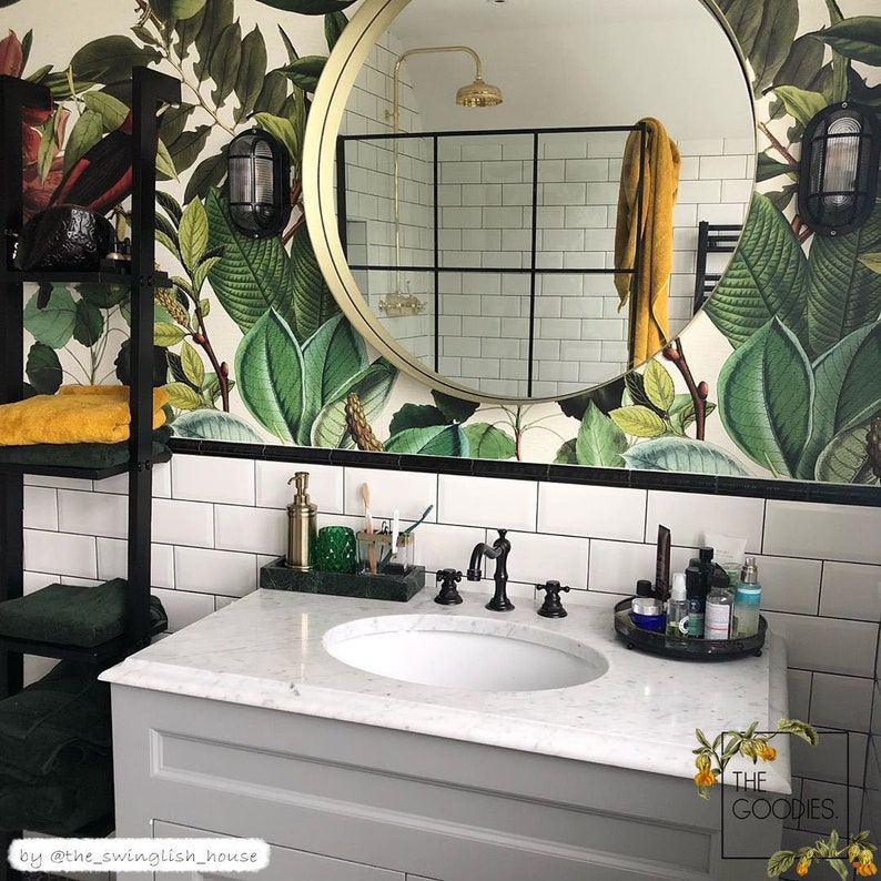 Botanical removable wallpaper Colors of nature wall mural image 0