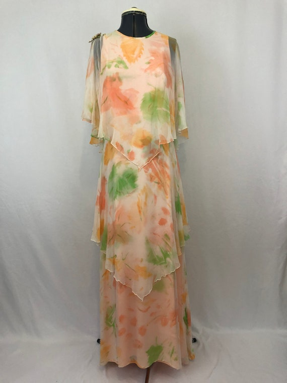 Vintage 1970's Sylvia Ann formal dress