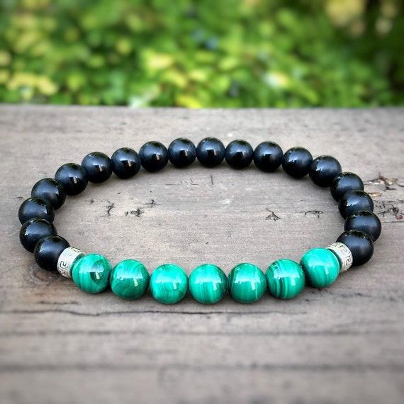 Beaded Bracelets Bracelets for Women Healing Bracelet 8mm Genuine Malachite Bracelet Crystal Bracelet Healing Crystals and Stones