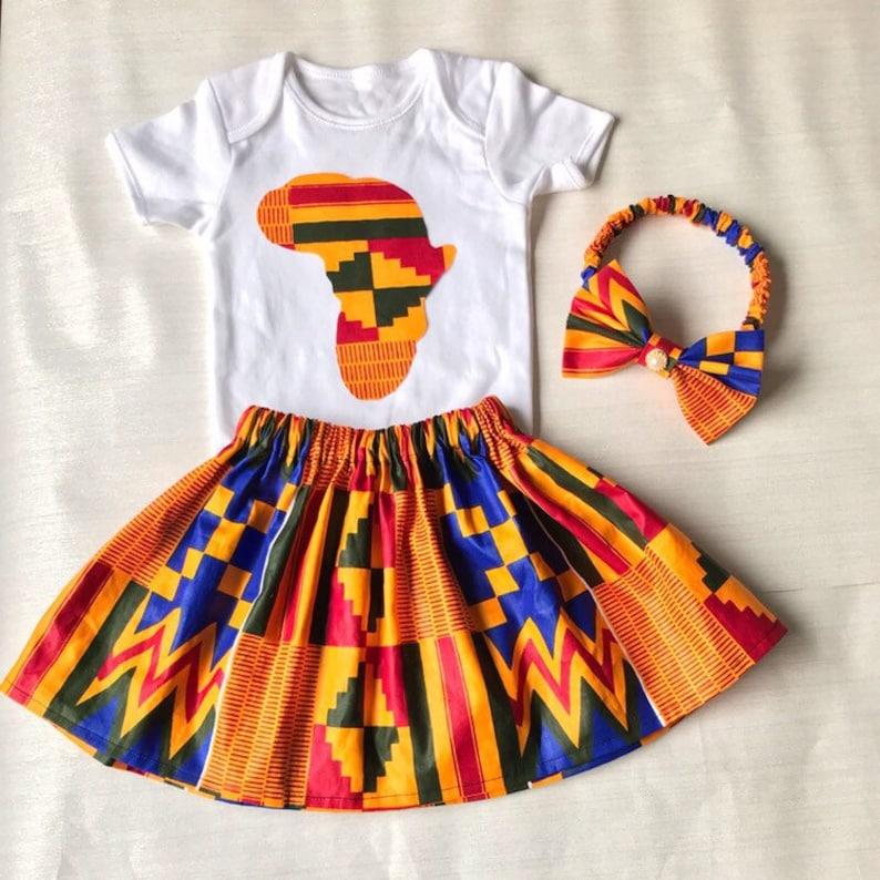 1600f24e8afe9 African Map Bodysuit| African Print Kids Clothes| Ankara Baby Girl Dress|  African Matching Outfits| African Print Baby Skirt Ankara Headband