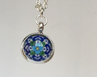 Halskette | M a n d e l l a | Sterling Necklace | Mexican Tiles | Talavera