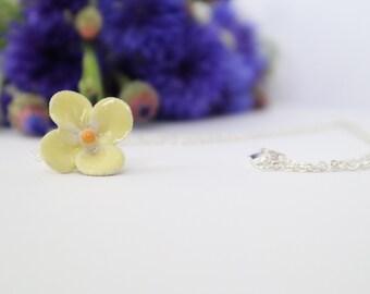 Necklace   t r é b o L   Sterling   Ceramics   Flower   Boho