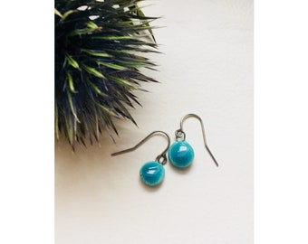 Earrings | A V A | Ceramic Turquoise