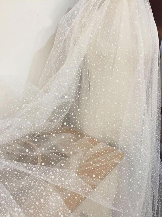 Corded Glitter Lace Bridal Wedding Dressmaking Shimmer Material Bridesmaid Veil