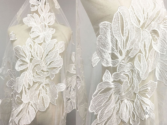 Shimmer lace Tulle Dreamy Lace Gauze Fabric for Bridal Veil Wedding Gown Dress  65 inches Width Sold by 0.5 meter