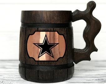 Dallas Cowboys Mug. Football Fan Gifts Sport Beer Stein Football Mug. Football Gift Dallas Cowboys Gift Beer Tankard. Gift for Men Beer #121
