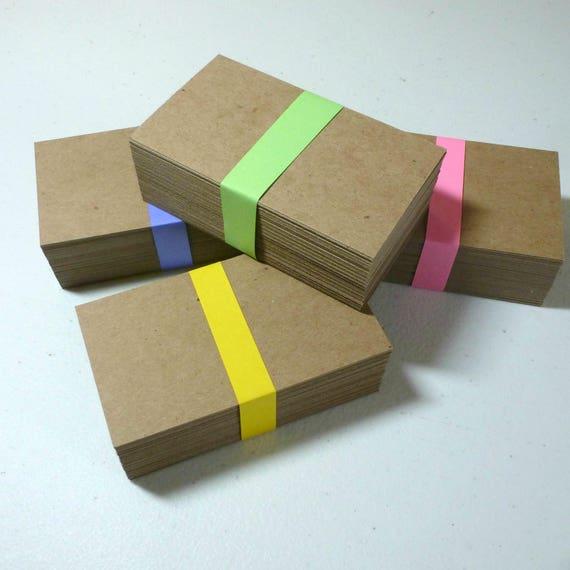 100 Cartes De Visite Agglomr Papier Kraft Biz Rustique Recycl Fournitures Picerie Sac Marron Bricolage