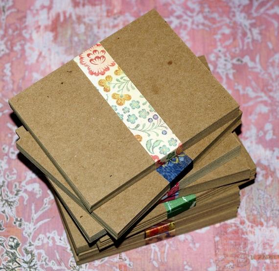 """enveloppes 20 x carré de 3.5/"""" qualité grade recyclé small kraft carte blanks"""