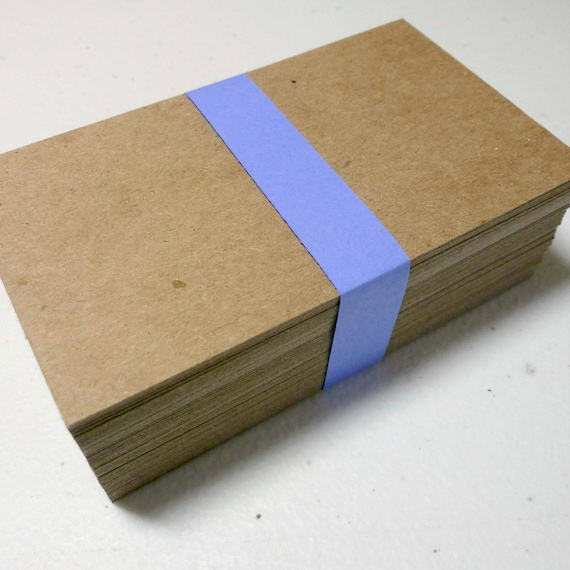 Leere Visitenkarten 50 Kraft Spanplatten Biz Karten Diy Geschäft Liefert Dicke Robuste Rustikale Umweltfreundliche Recycling Quadratisch Oder