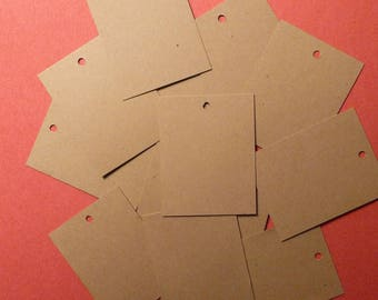 100 blank kraft tags price tags small tags bakers twine ties gift tags hang tags product tags merchandise tags labels craft show tags
