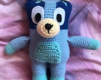 Blue Heeler Puppy Crochet Pattern