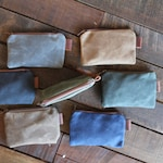 New Waxed Canvas Pouch, Popular Zipper Pouch, Tool Pouch
