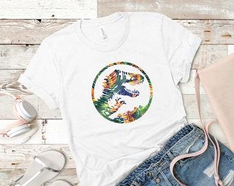 78292a5c407 Jurassic Park Tropical Floral Relax Tshirt