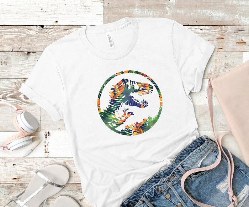 9447ed4a57ead Jurassic Park Tropical Floral Relax Tshirt Jurassic World