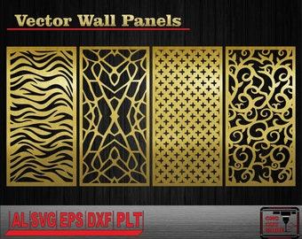 Decor wall panels. Interior partitions. Vector templates. Wall | Etsy