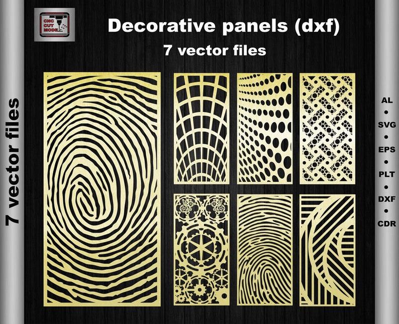 Decorative Ornamental Art Panel Dxf Svg Ai Eps Room Divider Etsy