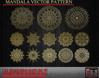 MANDALA Vector patterns for cutting and engraving for laser and CNC router machine
