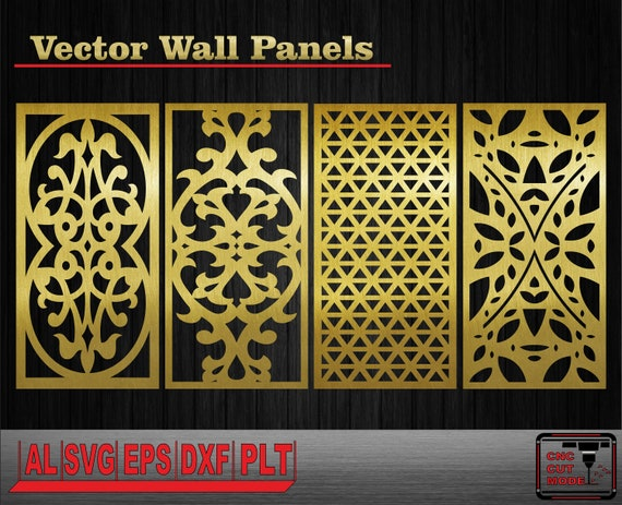 Decor Wall Panels Interior Partitions Vector Templates Wall Etsy