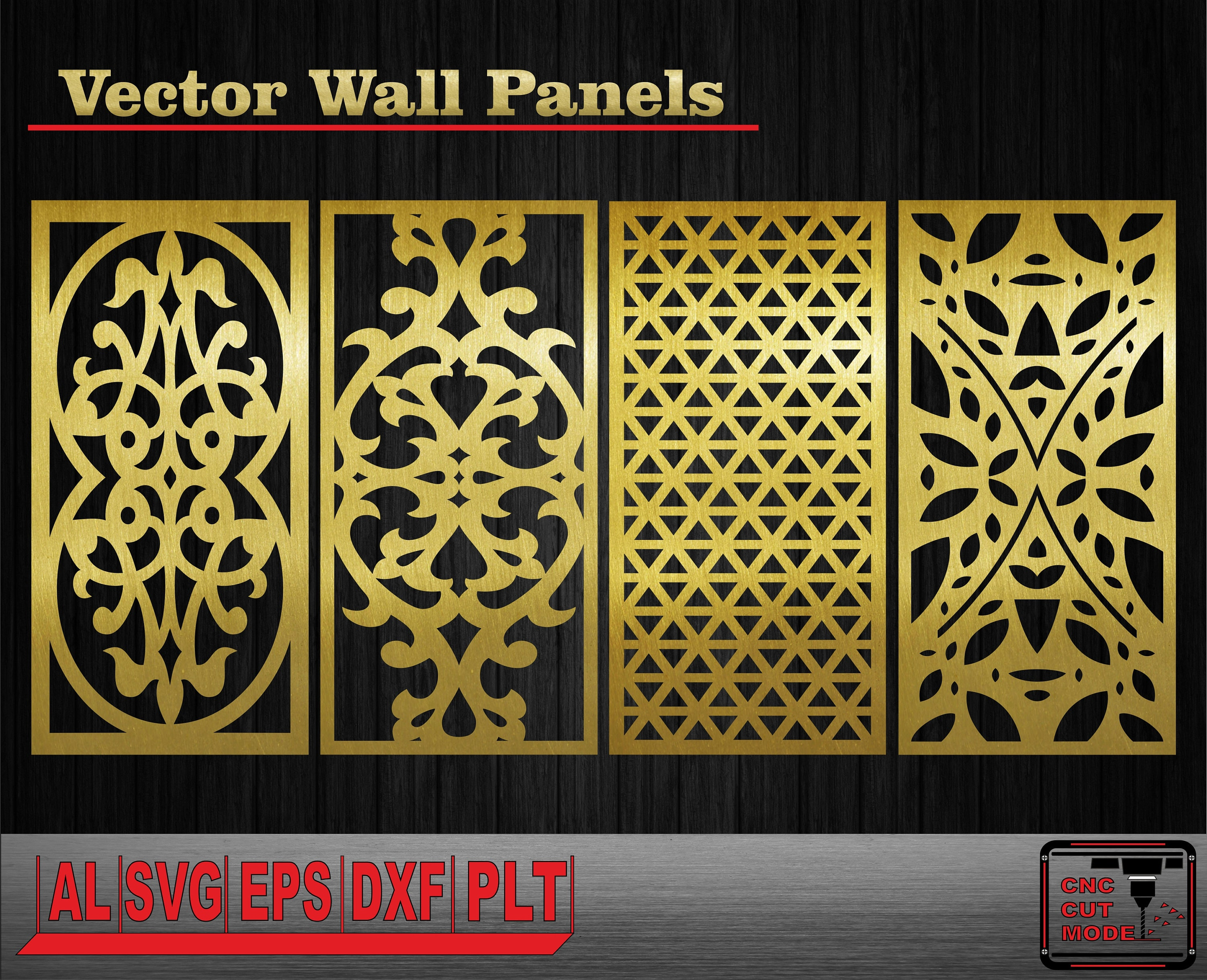 Decor wall panels. Interior partitions. Vector templates. Wall ...