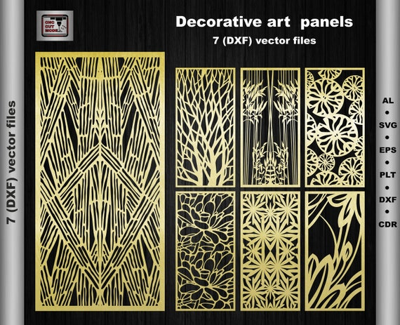 Decorative Art Paneldxfsvgepsairoom Dividerinterior Etsy
