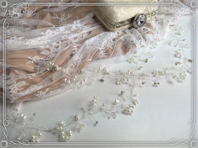 XXL Silver 1 meter 1.5 meter hair wire crystal jewelry bridal jewelry wedding Jewelry bridal Rhinestone Beads