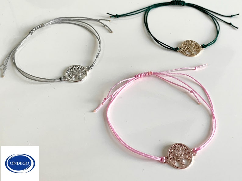 Wish bracelet life tree bracelet gift lucky charm Personalized bracelet nylon card saying