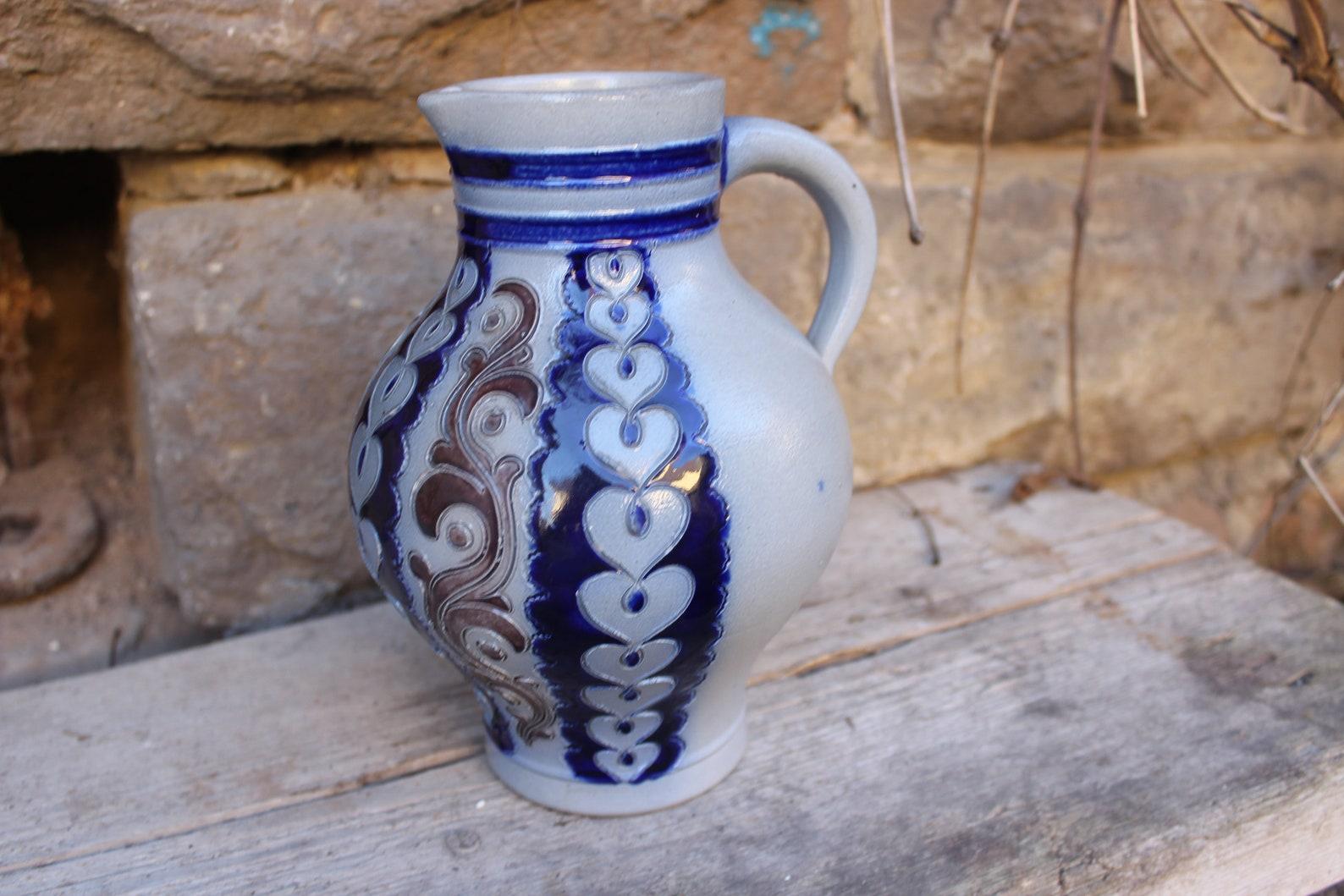 Vintage Jug Wine Jug Bembel 1.5 l Stoneware Merkelbach Westerwald Pottery