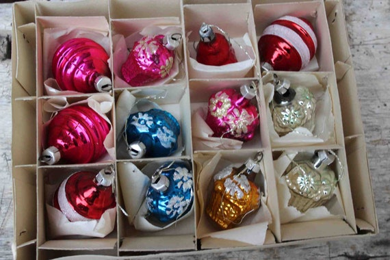 12 Alte Christbaumkugeln Christbaumschmuck Christmas Ornaments Etsy