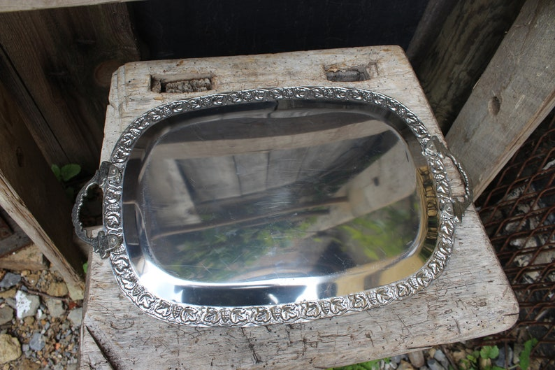 Vintage noble barn tray with handles 60s 70s