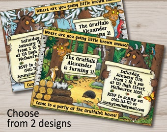 The Gruffalo Invitation Birthday Party Invite Book Theme Baby Shower Storybook