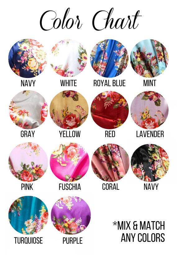 of Bridal Gifts Set Bridesmaid Bridesmaid Robes Robes 6 Robes Floral Party Personalized Bridesmaid Robe robes Bridal PfRwxTfq