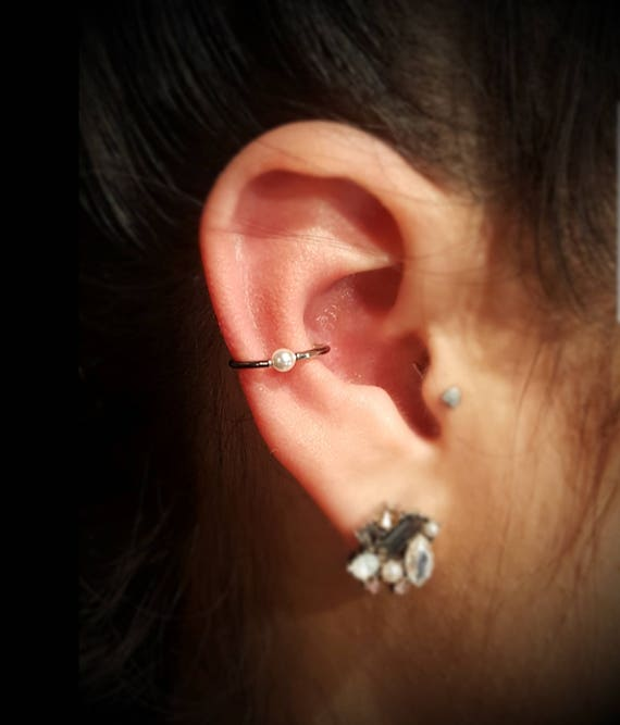 Steel Crystal Ball Ear Cartilage Studs Tragus Helix Conch Lobes Choose Gauge