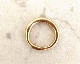 Hermana Solo ring, Handmade raw solid bronze ring, Stacking ring, Unisex ring, Organic band
