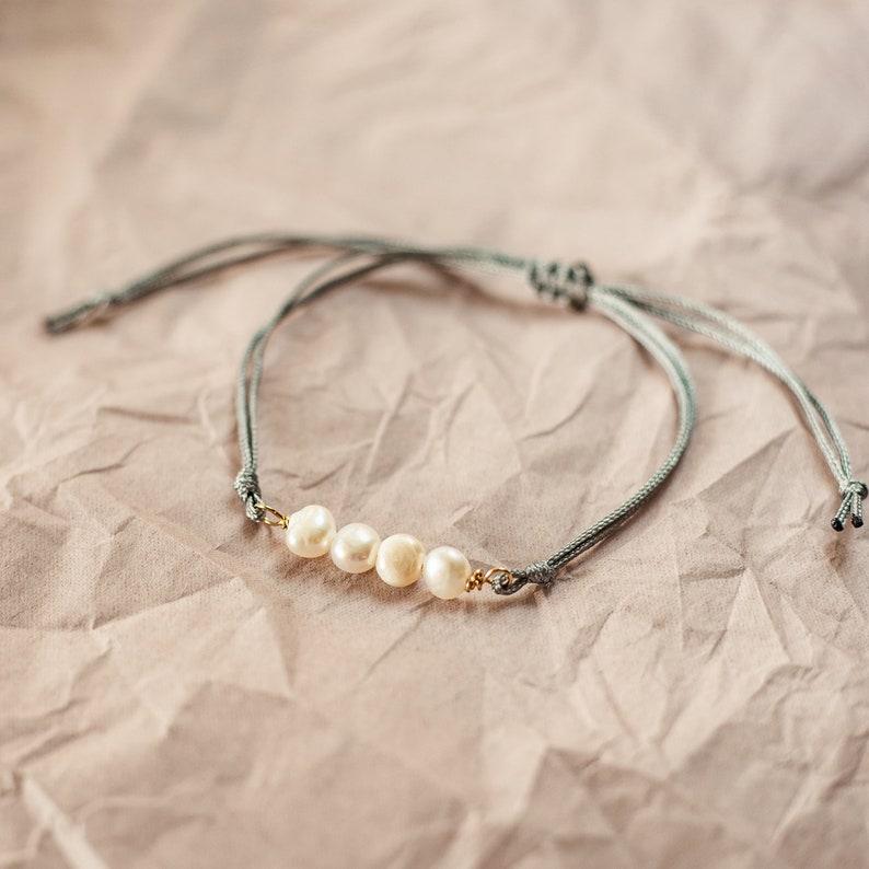 Edelsteine Achat und Turmalin zartes Armband mit glitzerndem Freundschaftsarmband Freshwater pearl bracelet S\u00fcsswasserperlen