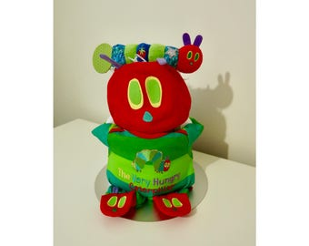The Very Hungry Caterpillar Nappy Cake with Outfit