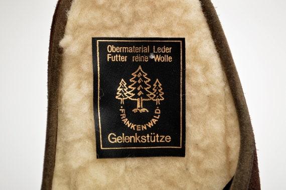 Wildleder Leder indoor Hausschuhe von Frankenwald mit