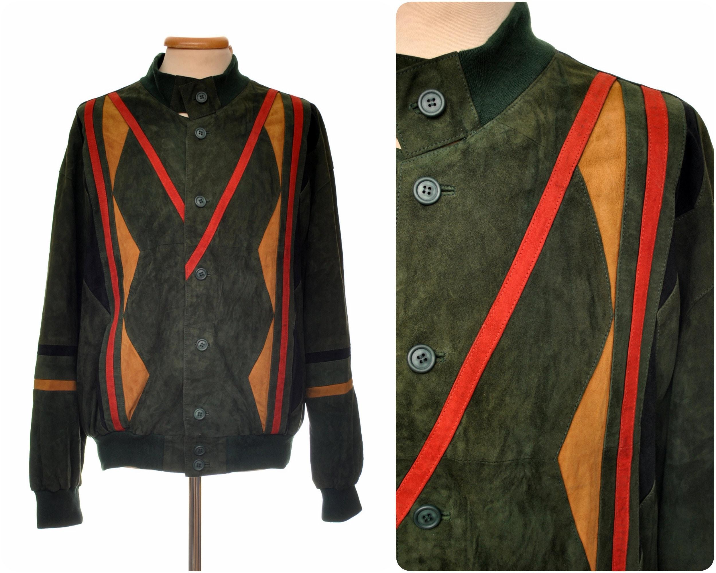 daim veste vintage pour homme en cuir veste daim par M.Flues   taille Eur 5620fdadd3c