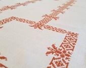 Linen handmade white tablecloth