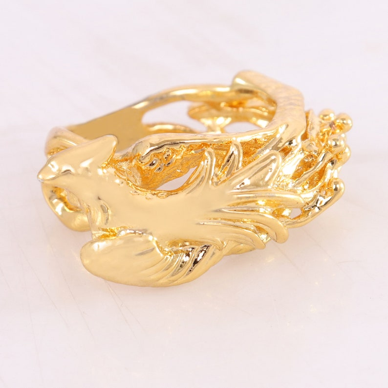 Silver flying Dragon Ring Rhodium Plated Dragon Ring Rose Gold Plated Dragon Ring Flying Dragon Ring Gold Plated Dragon Ring