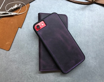 Leather Magnet Iphone 7 Case, Leather Magnet Phone Case, Iphone Case, Iphone Seven Case, Iphone Leather Case, Leather Case, Iphone 7 Case,