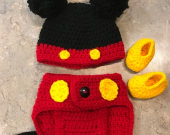 Mickey Mouse newborn outfit