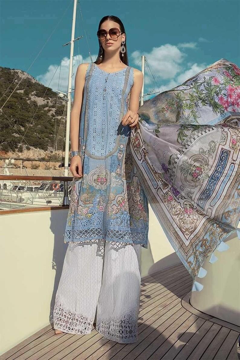 3f22110406 Original Maria B Lawn 2019 Pakistani Designer Indian Salwar   Etsy